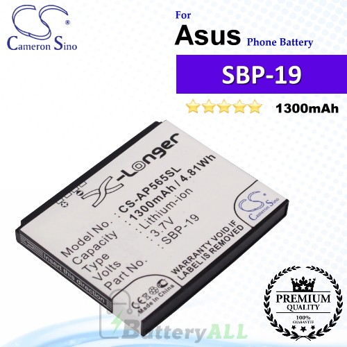CS-AP565SL For Asus Phone Battery Model SBP-19