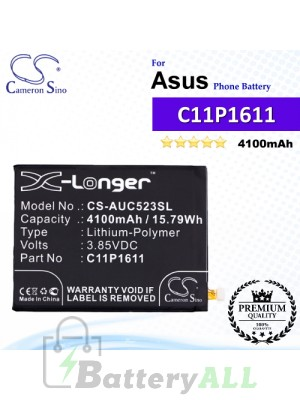 CS-AUC523SL For Asus Phone Battery Model 0B200-02300000 / C11P1609 / C11P1611