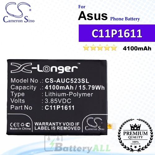CS-AUC523SL For Asus Phone Battery Model 0B200-02300000 / C11P1609 / C11P1611