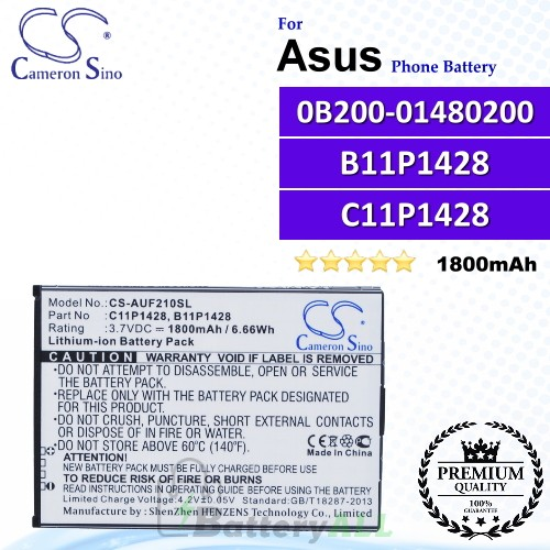 CS-AUF210SL For Asus Phone Battery Model 0B200-01480200 / B11P1428 (1CP5/51/71) / C11P1428 (1CP5/51/71)