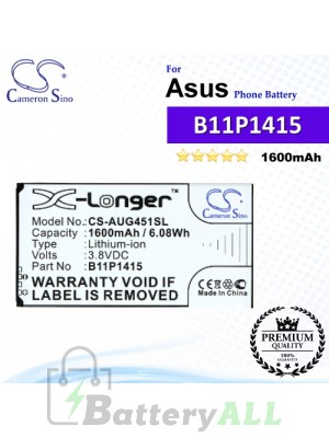 CS-AUG451SL For Asus Phone Battery Model B11P1415