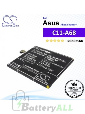 CS-AUP680SL For Asus Phone Battery Model C11-A68