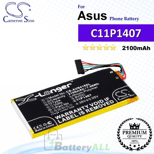 CS-AUS416SL For Asus Phone Battery Model 0B200-01140000 / C11P1407 (1ICP5/41/79)