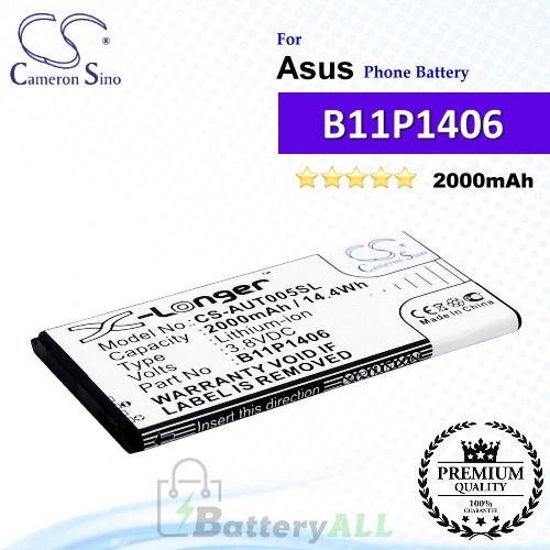 CS-AUT005SL For Asus Phone Battery Model 0B200-01110000 / B11P1406