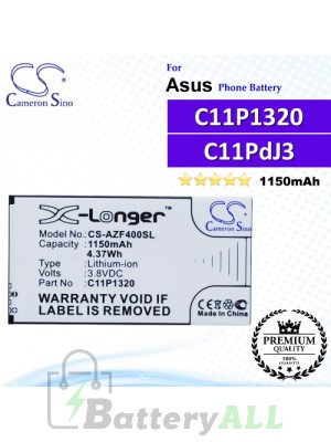 CS-AZF400SL For Asus Phone Battery Model C11P1320 / C11PdJ3