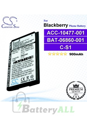 CS-BR7100SL For Blackberry Phone Battery Model ACC-10477-001 / BAT-06860-001 / C-S1