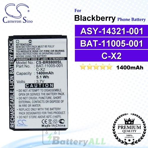CS-BR8800SL For Blackberry Phone Battery Model ASY-14321-001 / BAT-11005-001 / C-X2
