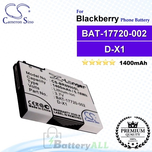 CS-BR8900SL For Blackberry Phone Battery Model BAT-17720-002 / D-X1