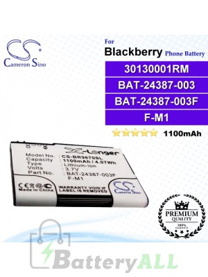CS-BR9670SL For Blackberry Phone Battery Model 30130001RM / BAT-24387-003 / F-M1