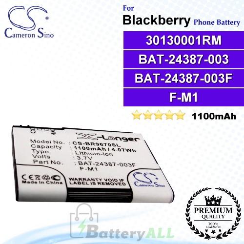 CS-BR9670SL For Blackberry Phone Battery Model 30130001RM / BAT-24387-003 / F-M1