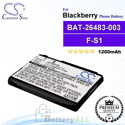 CS-BR9810SL For Blackberry Phone Battery Model BAT-26483-003 / F-S1