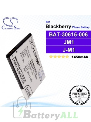 CS-BR9900FX For Blackberry Phone Battery Model BAT-30615-006 / JM1 / J-M1