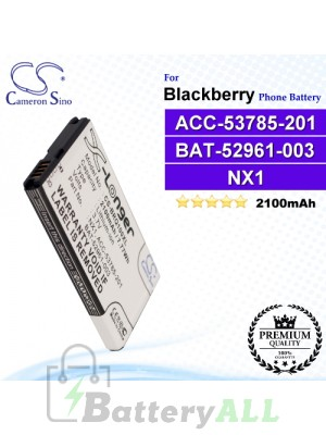 CS-BRQ100XL For Blackberry Phone Battery Model ACC-53785-201 / BAT-52961-003 / NX1