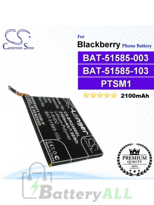 CS-BRQ500SL For Blackberry Phone Battery Model BAT-51585-003 / BAT-51585-103 / PTSM1