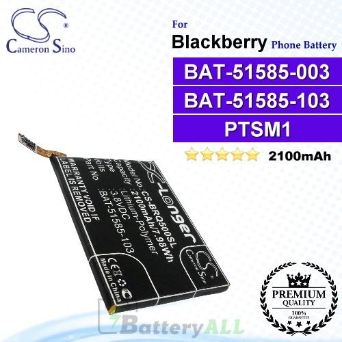 CS-BRQ500SL For Blackberry Phone Battery Model BAT-51585-003 / BAT-51585-103 / PTSM1