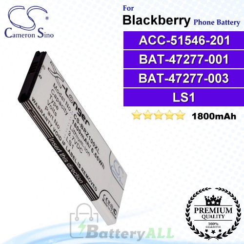 CS-BRZ100XL For Blackberry Phone Battery Model ACC-51546-201 / BAT-47277-001 / BAT-47277-003 / LS1