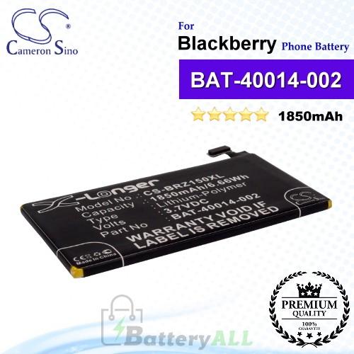 CS-BRZ150XL For Blackberry Phone Battery Model BAT-40014-002