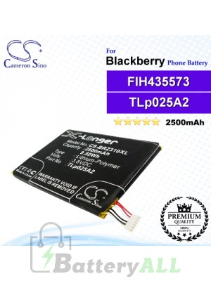 CS-BRZ310XL For Blackberry Phone Battery Model FIH435573 / TLp025A2