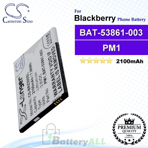 CS-BRZ500SL For Blackberry Phone Battery Model BAT-53861-003 / PM1