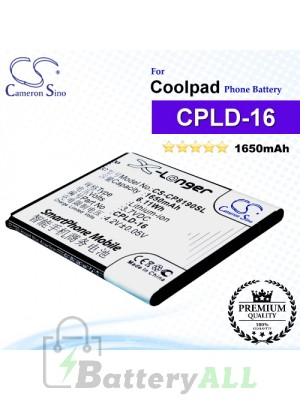 CS-CP8190SL For Coolpad Phone Battery Model CPLD-16