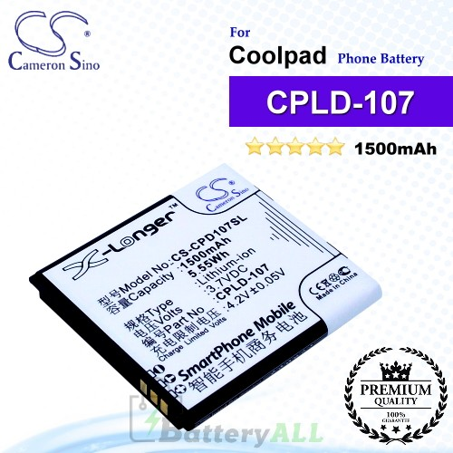 CS-CPD107SL For Coolpad Phone Battery Model CPLD-107