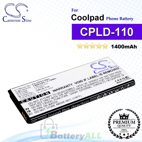 CS-CPD110SL For Coolpad Phone Battery Model CPLD-110