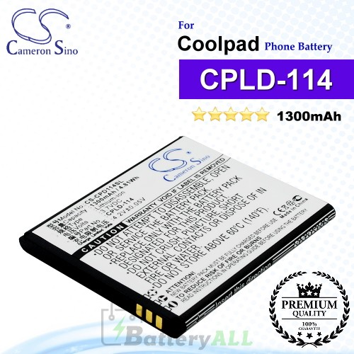 CS-CPD114SL For Coolpad Phone Battery Model CPLD-114