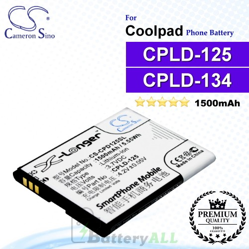 CS-CPD125SL For Coolpad Phone Battery Model CPLD-125 / CPLD-134