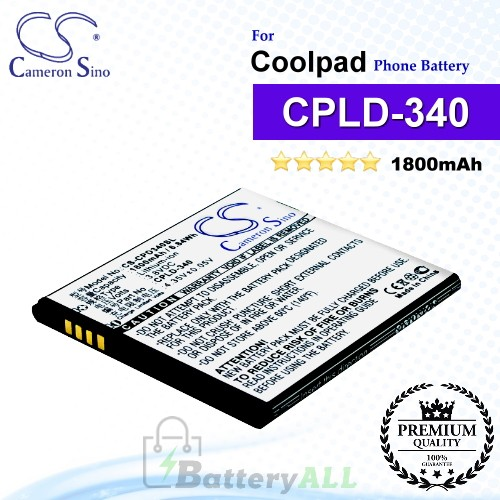 CS-CPD340SL For Coolpad Phone Battery Model CPLD-340