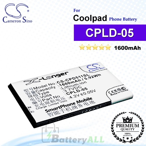 CS-CPD511SL For Coolpad Phone Battery Model CPLD-05