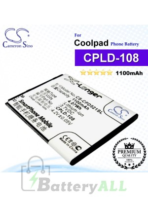 CS-CPD521SL For Coolpad Phone Battery Model CPLD-108