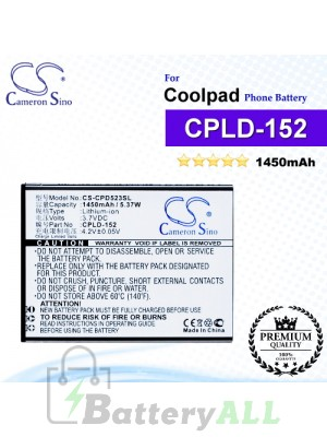 CS-CPD523SL For Coolpad Phone Battery Model CPLD-152
