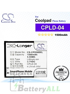 CS-CPD588XL For Coolpad Phone Battery Model CPLD-04