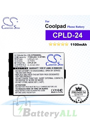 CS-CPD600SL For Coolpad Phone Battery Model CPLD-24