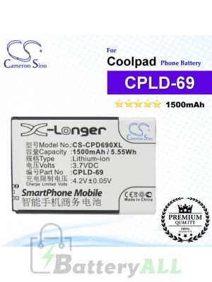 CS-CPD690XL For Coolpad Phone Battery Model CPLD-69