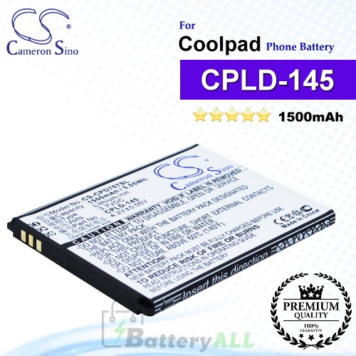 CS-CPD707SL For Coolpad Phone Battery Model CPLD-145