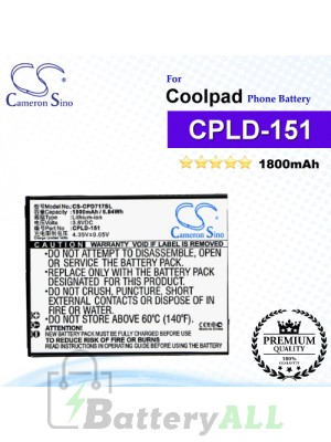 CS-CPD717SL For Coolpad Phone Battery Model CPLD-151