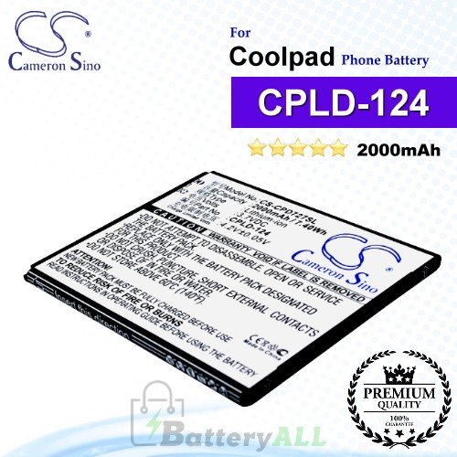 CS-CPD727SL For Coolpad Phone Battery Model CPLD-124