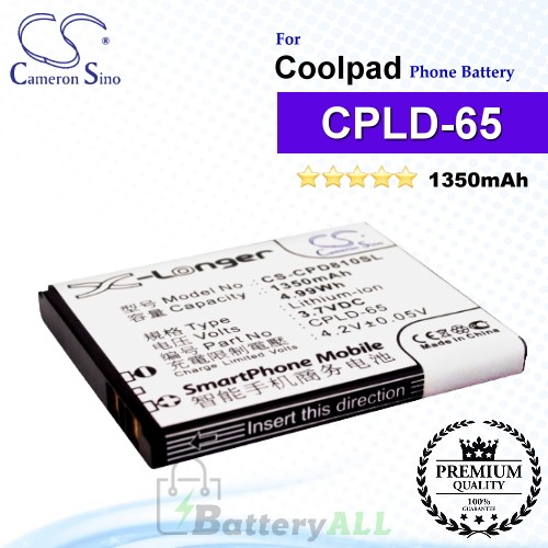 CS-CPD810SL For Coolpad Phone Battery Model CPLD-65