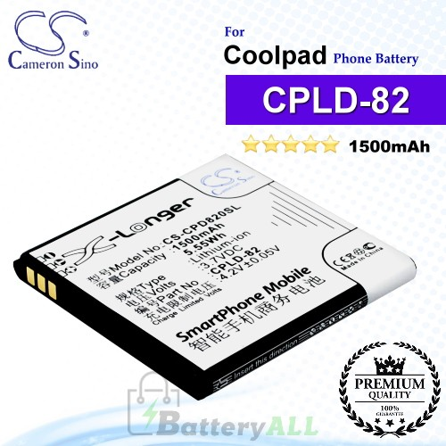 CS-CPD820SL For Coolpad Phone Battery Model CPLD-82