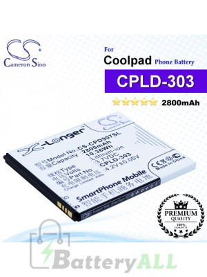 CS-CPD907SL For Coolpad Phone Battery Model CPLD-303