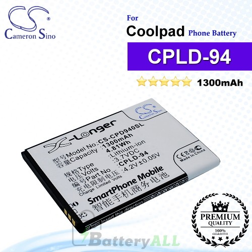 CS-CPD940SL For Coolpad Phone Battery Model CPLD-94