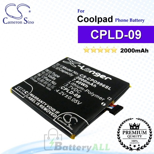 CS-CPD996SL For Coolpad Phone Battery Model CPLD-09