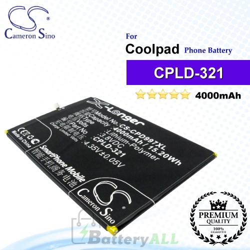CS-CPD997XL For Coolpad Phone Battery Model CPLD-317 / CPLD-321