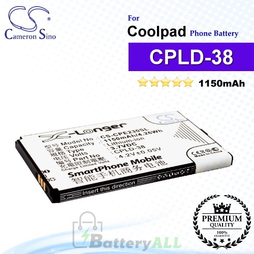 CS-CPE230SL For Coolpad Phone Battery Model CPLD-38