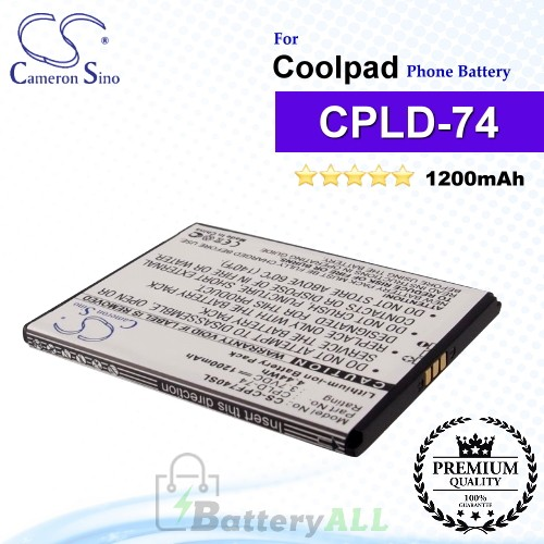CS-CPF740SL For Coolpad Phone Battery Model CPLD-74