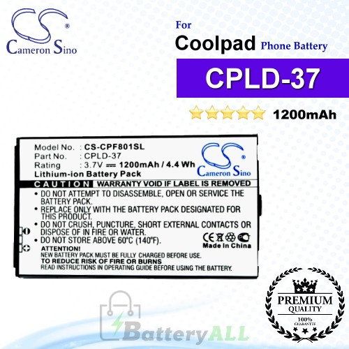 CS-CPF801SL For Coolpad Phone Battery Model CPLD-37