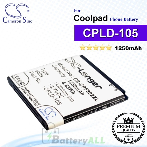 CS-CPF802XL For Coolpad Phone Battery Model CPLD-105