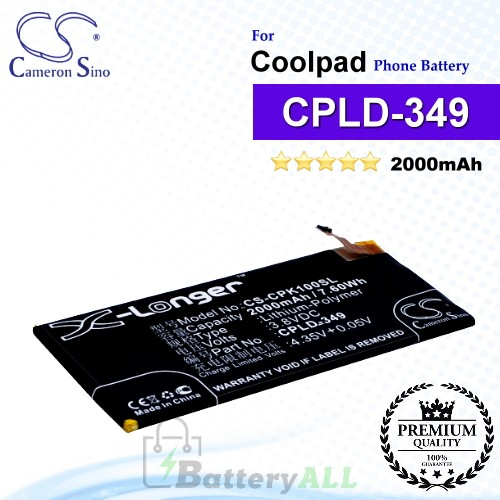 CS-CPK100SL For Coolpad Phone Battery Model CPLD-349