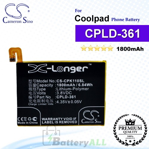 CS-CPK110SL For Coolpad Phone Battery Model CPLD-361